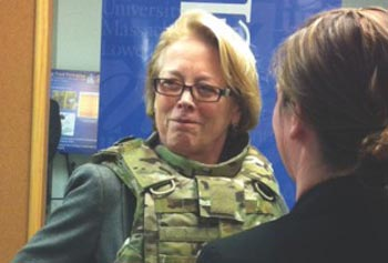 UMass Lowell, Army Lab Researchers Collaborate to Help Keep Soldiers Safe