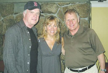 "Jack Neary with actors Kathy Manfre and Gordon Clapp, who appeared in his play ""Auld Lang Syne"" last summer in Peterborough, N.H."