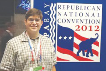 UMass Lowell student Corey Lanier, 20, of Dracut, spent this week working at the Republican National Convention in Tampa, Fla., for CNN s political assignment desk as part of a two-week educational seminar through The Washington Center.