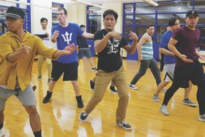 Vattana Thach teaches urban dance.