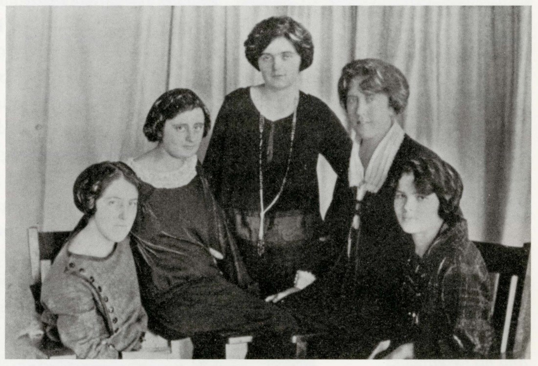 Female Textile College students in 1924