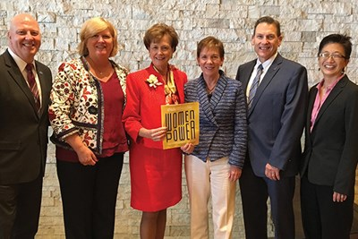 Joining Chancellor Jacquie Moloney at The Commonwealth Institute's award breakfast were John Feudo, Patti McCafferty, Joanne Yestramski, Mike Vayda and Julie Chen.