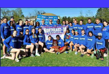 The women's track and field team brought home their sixth Northeast-10 conference championship this season. Photo by Bob Ellis