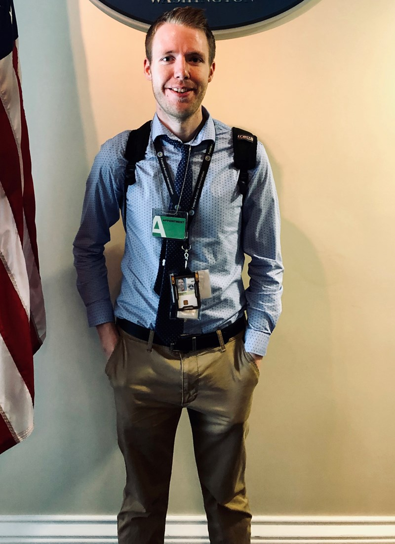 Tyler Harrington at the Eisenhower Space Weather Meeting