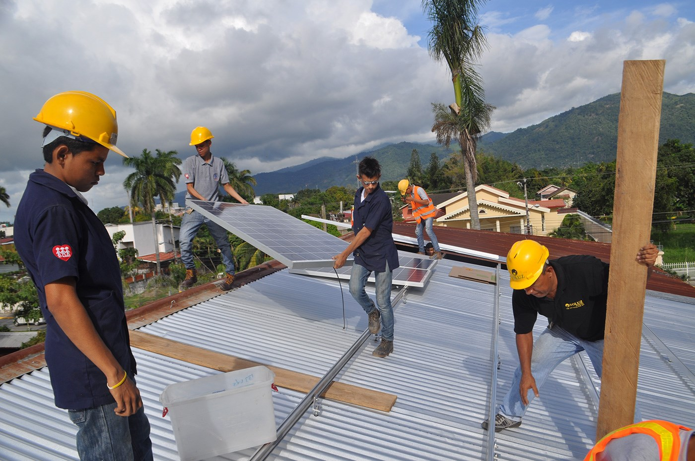 Students helped installed a solar PV system in a trade school that receives at-risk youth who left traditional academic schools looking for alternative trade skill training. This system helped reduce operating costs at the school, allowing the institute to utilize those funds to support educational programs.