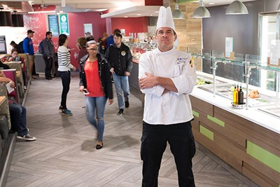 Frank Hurley oversees the food that powers UMass Lowell students.