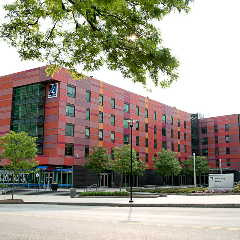 University Suites is a student residence hall on the UMass Lowell campus
