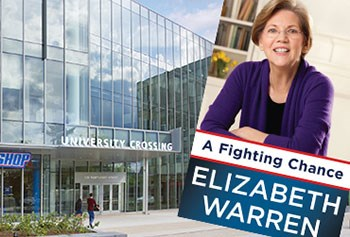 U.S. Sen. Elizabeth Warren to speak at University Crossing.
