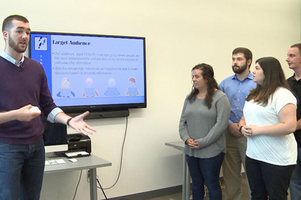 UMass Lowell students work on Project Pace.