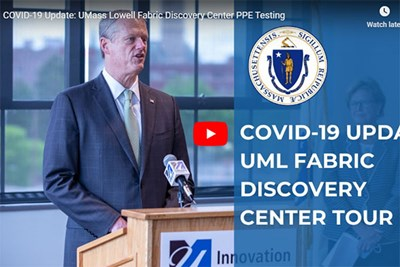 Gov. Charlie Baker speaks at the UMass Lowell Innovation Hub