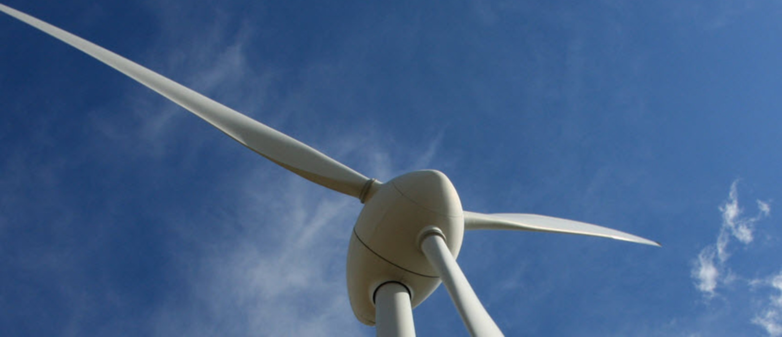 Close up photo of wind turbine