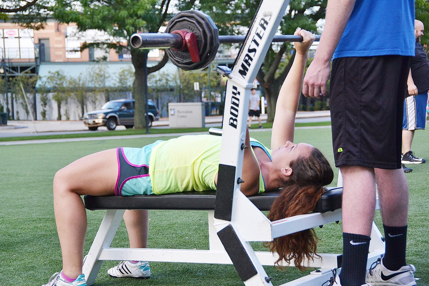Woman Student Weightlifting