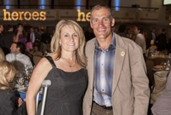 Roseann Sdoia and Paul Martin at the Challenged Athletes Foundation in New York on Wednesday night.