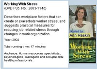 Working With Stress NIOSH Video