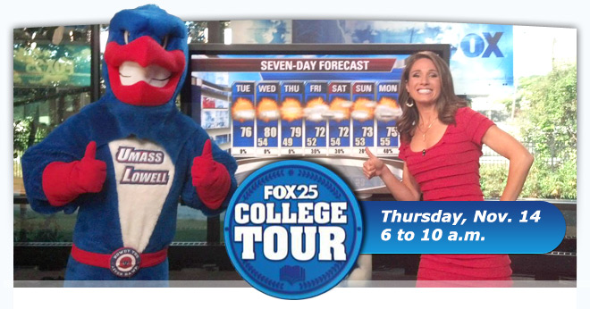 FOX 25 College Tour Comes to UMass Lowell 11/14
